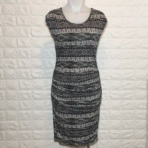 Kut From The Kloth Black White Tribal Tight Dress